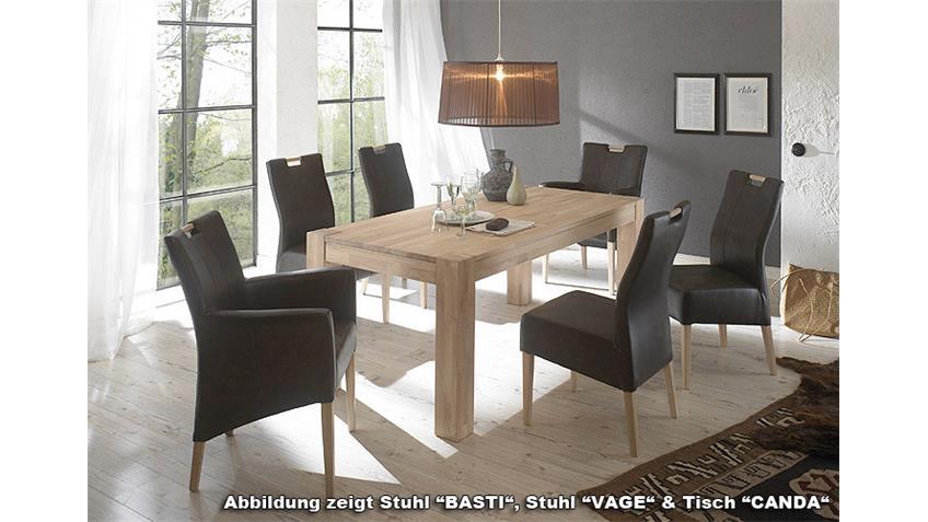 VAGE Stuhl Dunkelgrau/Sonoma Eiche lackiert