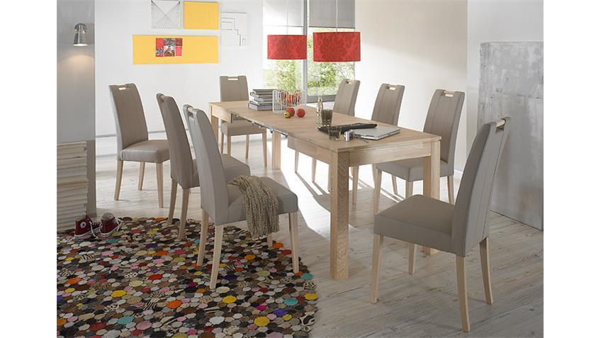 Tischgruppe RAFFO UND SAMY Sonoma Eiche braun  140/260x80 cm