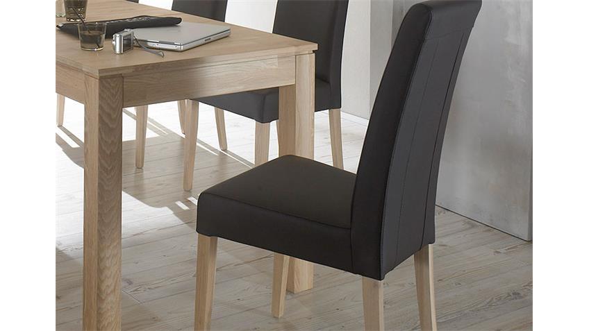 Tischgruppe RAFFO & SAMY Sonoma Eiche schwarz 140/260x80 cm