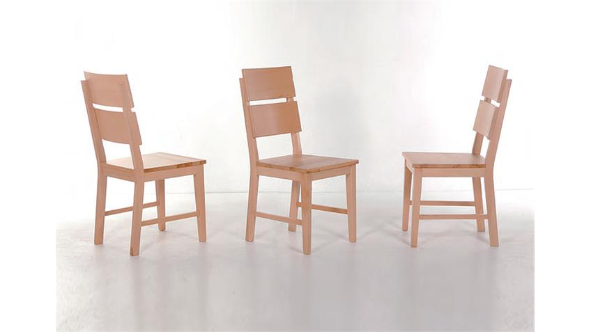 Stuhl KAON Esszimmerstuhl in Kernbuche massiv lackiert