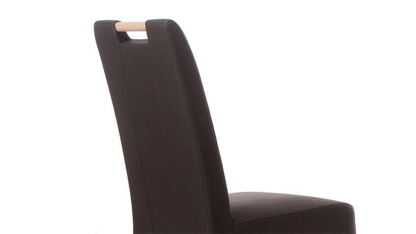 Stuhl SAM 2 braun und Sonoma Eiche mit Griff