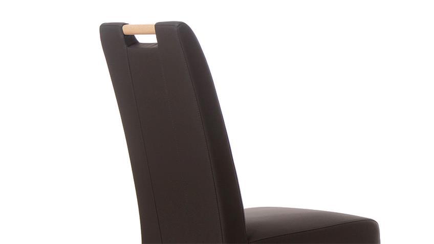 Stuhl SAM 2 braun und Buche natur mit Griff