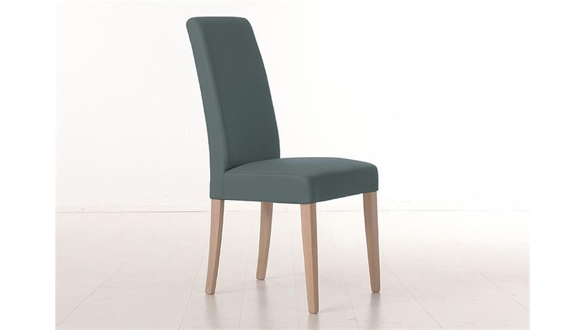 Stuhl SAM 1 Polsterstuhl Esszimmerstuhl in grau und Sonoma Eiche