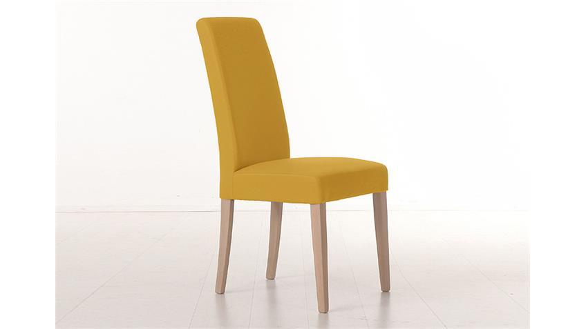 Stuhl SAM 1 Polsterstuhl in curry gelb und Sonoma Eiche