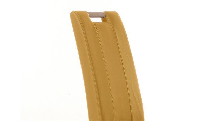 Stuhl SAM 2 curry gelb und Sonoma Eiche mit Griff