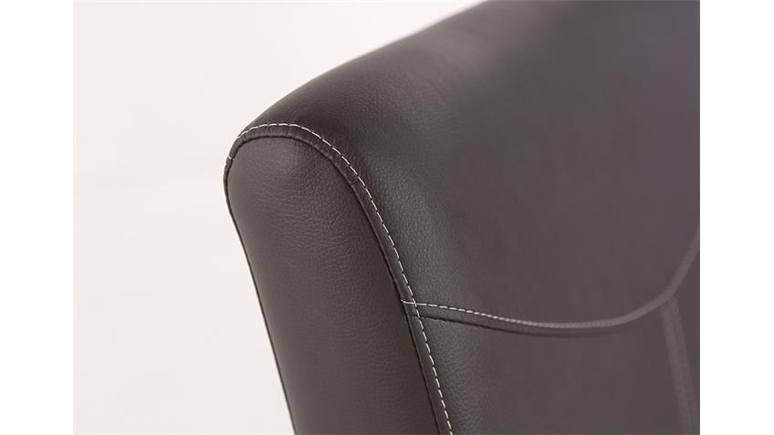 Stuhl FABIO Polsterstuhl Stuhl in braun und Eiche natur