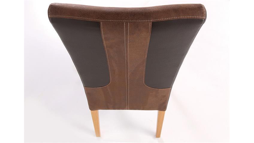 Stuhl FABIO dunkelbraun braun und Kernbuche