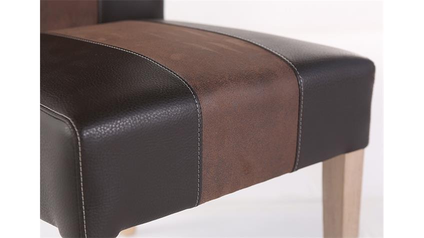 Stuhl FLORIAN dunkelbraun braun und Sonoma Eiche