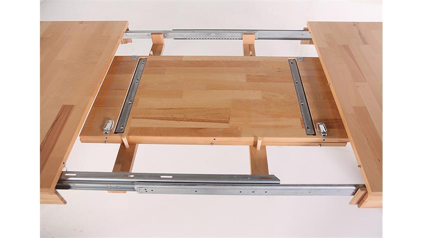 Esstisch PEDRO 2XL Kernbuche massiv lackiert 140-220 cm