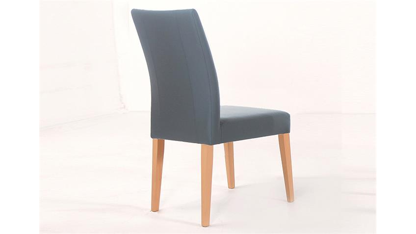 Stuhl LAURA Esszimmerstuhl Polsterstuhl in grau und Buche