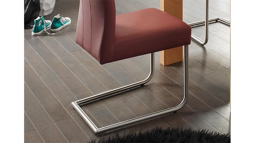 schwingstuhl laura mit griff buche natur brombeer edelstahl. Black Bedroom Furniture Sets. Home Design Ideas