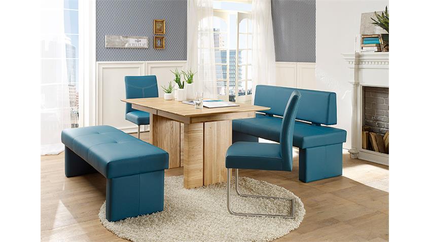 Bank DOMINO Sitzbank Polsterbank Hocker petrol blau 130 cm