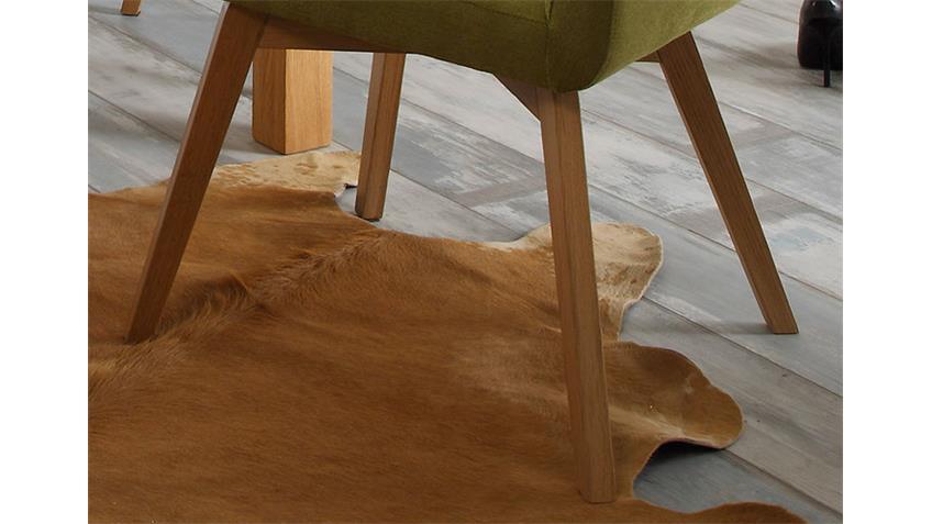Esszimmerstuhl BELA 2er Set grün und Eiche natur massiv