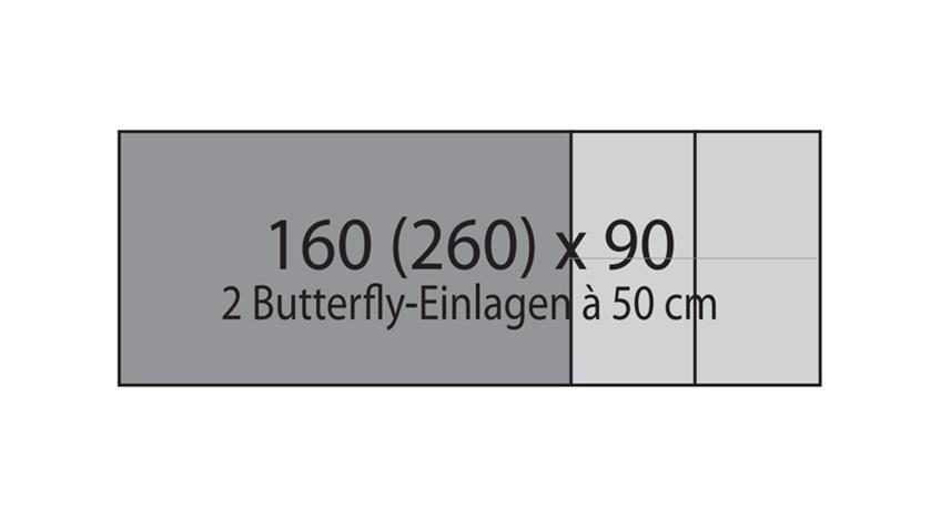 Esstisch YASHA Eiche natur massiv geölt 160-260x90 cm