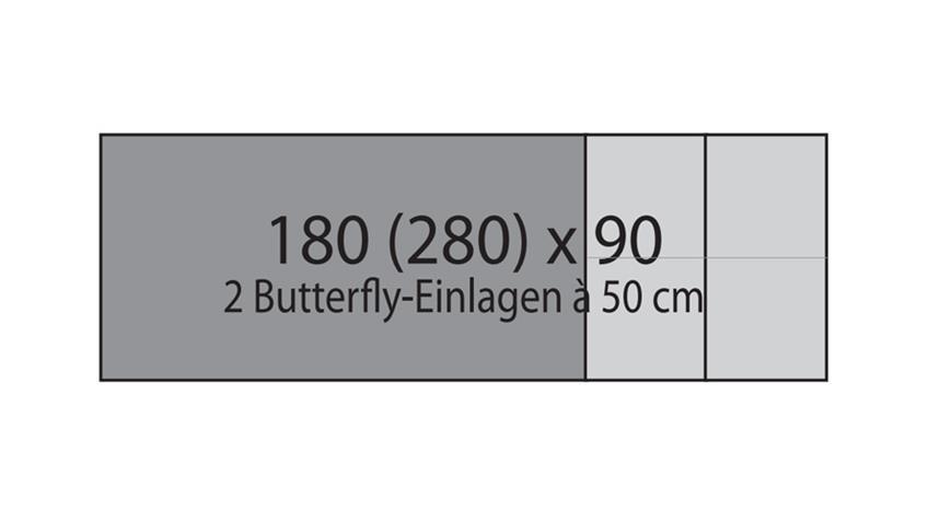 Esstisch YASHA Eiche natur massiv geölt 180-280x90 cm