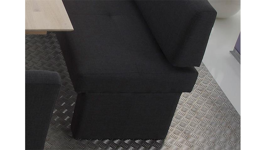 Eckbank DOMINO in Webstoff anthrazit links 224x167 cm