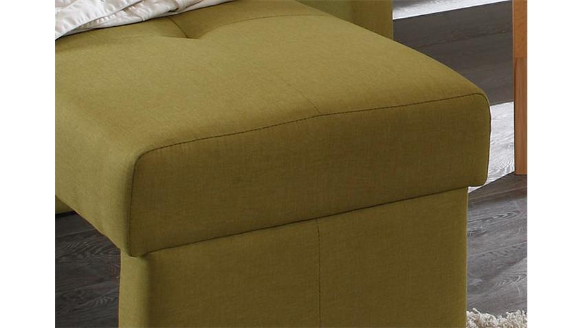Sitzbank DOMINO in Webstoff lemon ohne Rücken 130 cm