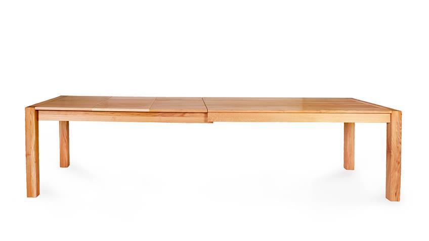 Esstisch KAPSTADT 3XL Eiche natur massiv geölt 160-295 cm