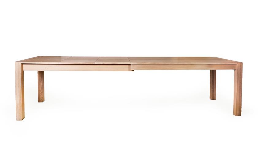 Esstisch KAPSTADT 3XL Eiche bianco massiv geölt 160-295 cm