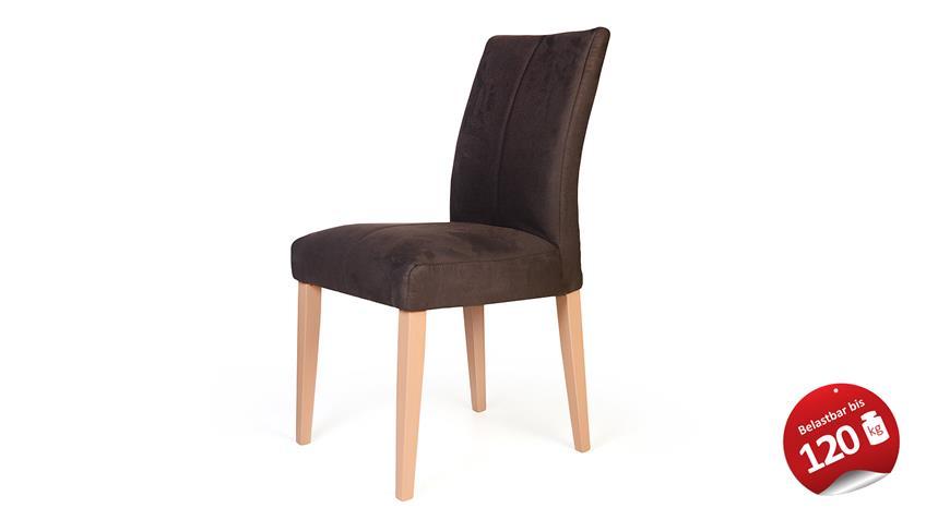 Stuhl FLYNN 1 in Zeus braun und Buche natur massiv