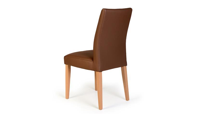 Stuhl FLYNN 1 in Sky espresso und Eiche bianco massiv