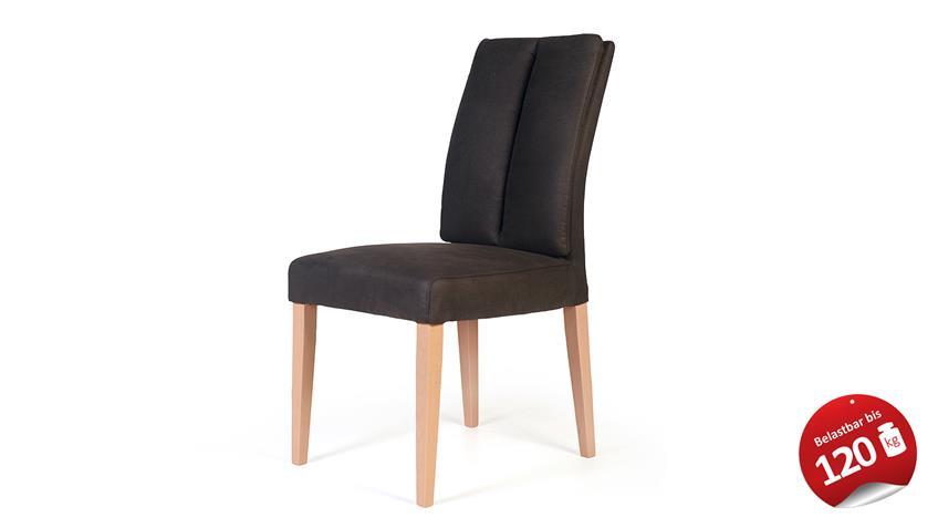 stuhl flynn 2 in zeus braun und buche natur massiv. Black Bedroom Furniture Sets. Home Design Ideas