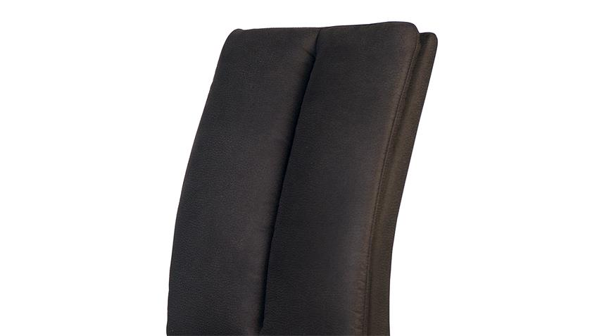 Stuhl FLYNN 2 in Zeus braun und Buche natur massiv