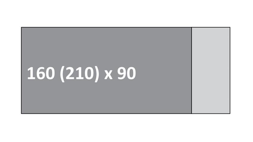 Esstisch KUARO 1XL Eiche bianco massiv geölt 160-210 cm