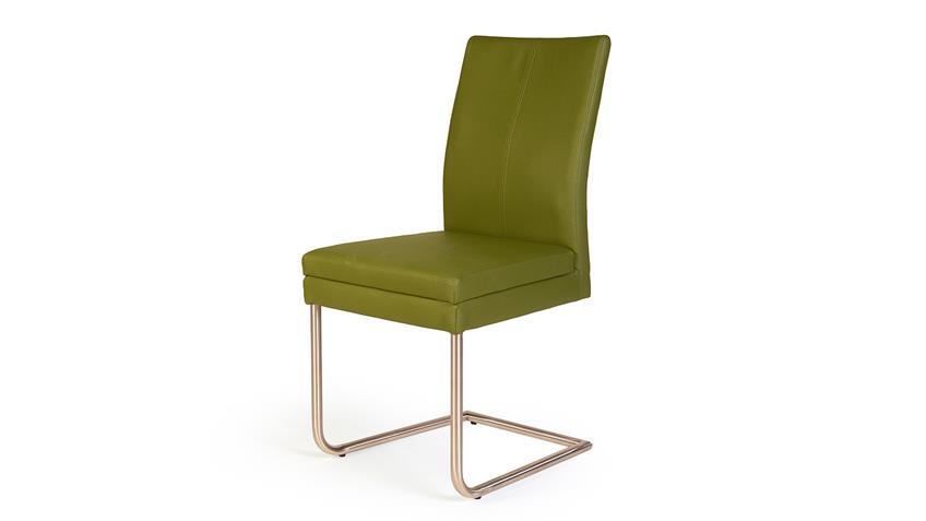 Schwingstuhl GOJA Stuhl in Sky grün und Edelstahl
