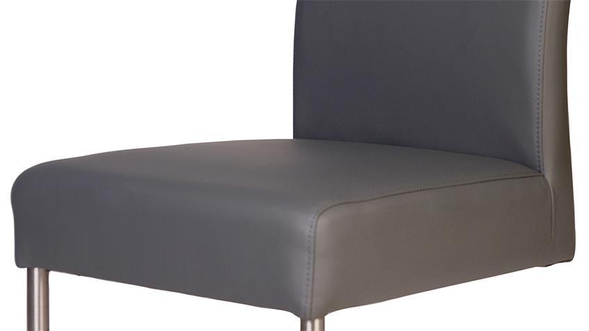 2er Set Schwingstuhl KADIRA Stuhl in Kaiman grau