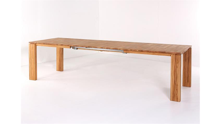 Tischgruppe DARIO 2 FABIO Eiche natur hellbraun 7 teilig