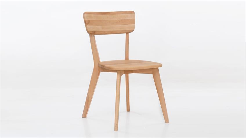 Holzstuhl NOCI 1 Stuhl Esszimmer Stuhlsystem Kernbuche massiv geölt