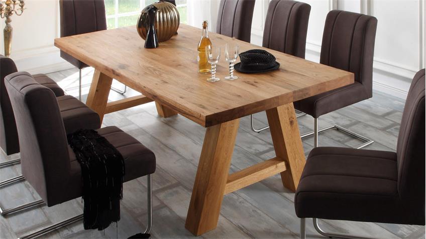 esstisch lynn 220x100 cm tisch in balkeneiche massiv. Black Bedroom Furniture Sets. Home Design Ideas