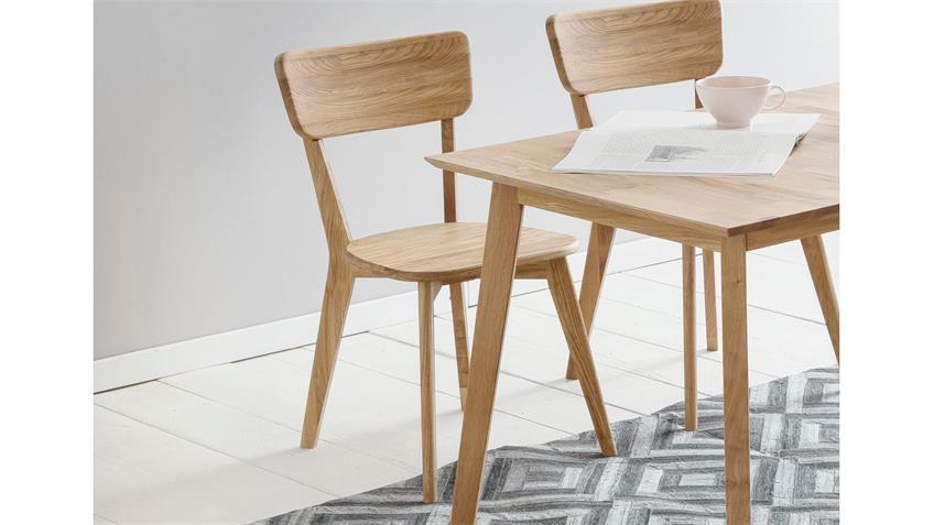 Holzstuhl NOCI 1 Stuhl Esszimmer Stuhlsystem Eiche natur massiv geölt