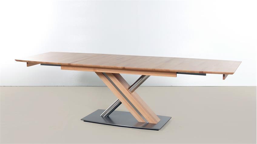 Esstisch ARTE S Tischsystem Kernbuche massiv Synchronauszug 160-260 cm