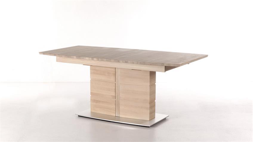 Esstisch ARTE S Tischsystem Eiche Sonoma massiv Synchronauszug 160-260