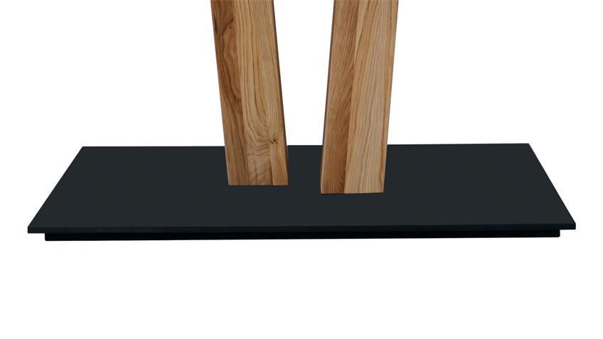 Esstisch CALGARY 2 Eiche Rustik massiv schwarz 180 cm