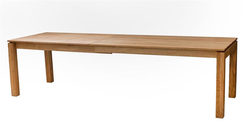 Esstisch KANDEL Eiche natur massiv mit Auszug 160-280 cm