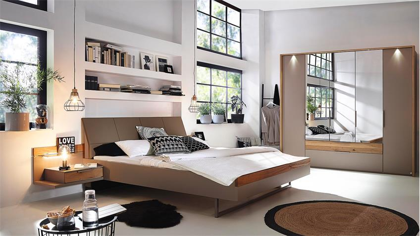 schlafzimmer set tanola bett schrank nako fango matt asteiche massiv. Black Bedroom Furniture Sets. Home Design Ideas