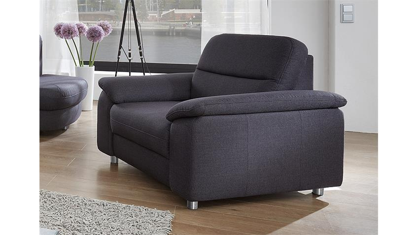 Sessel DELANO Sofa Fernsehsessel Polstermöbel in Anthrazit