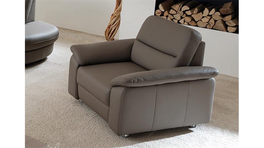 Sessel DELANO Sofa Fernsehsessel Polstermöbel in grau braun
