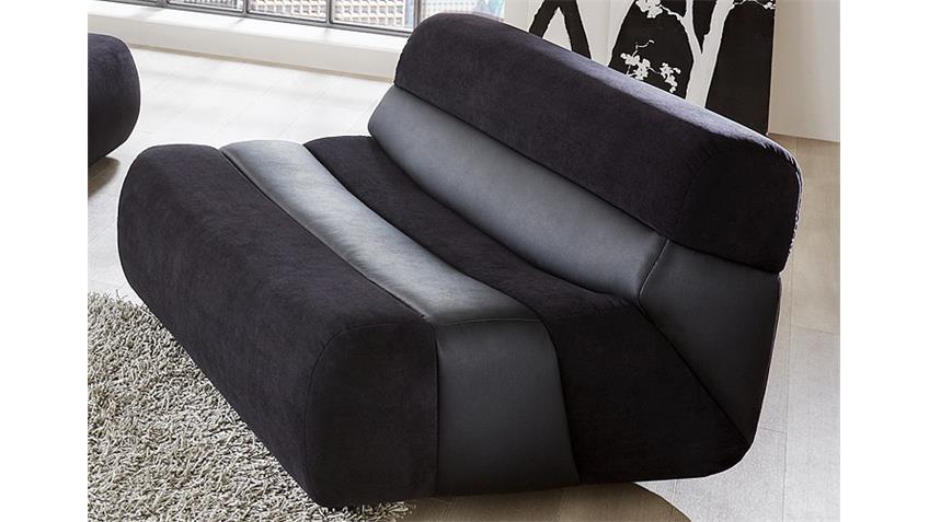 Sessel SCOUT TV Sessel Sofa Polstermöbel in schwarz