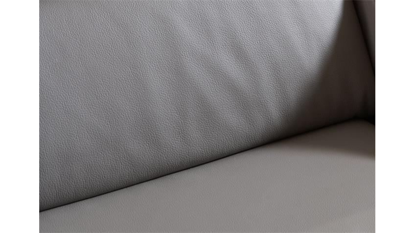 Wohnlandschaft DELANO mit Longchair rechts Bezug grau