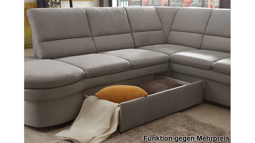 ecksofa ginger grau ottomane links 3 sitzer rechts federkern. Black Bedroom Furniture Sets. Home Design Ideas