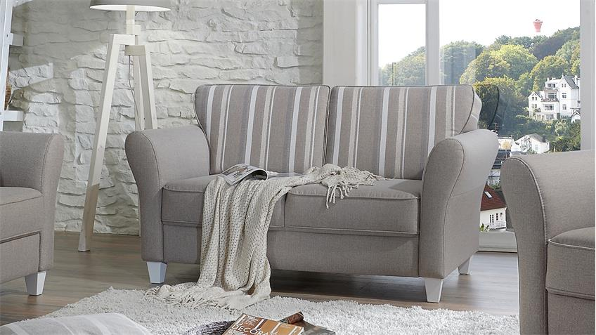 sofa 2er baltrum 2 sitzer polsterm bel beige landhaus 157. Black Bedroom Furniture Sets. Home Design Ideas