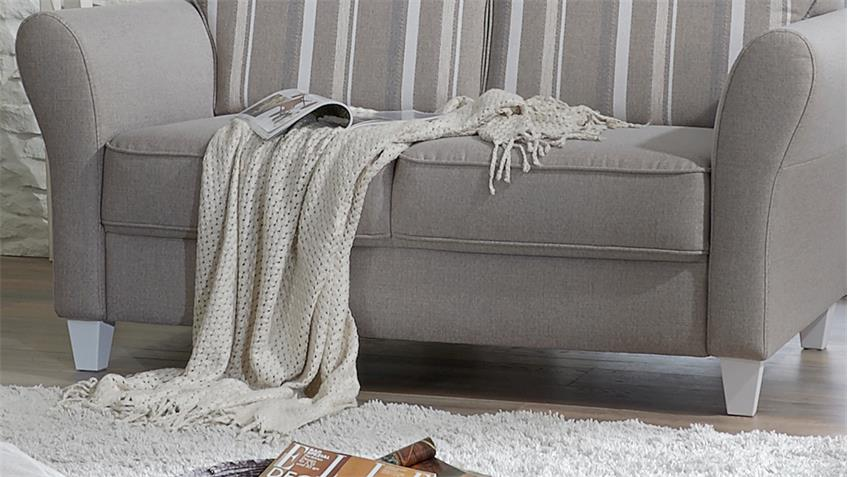 Sofagarnitur BALTRUM Garnitur Sofa in beige Landhaus