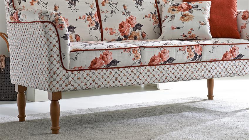 Speisesofa LANCASTER Küchensofa Sofa Polstermöbel in rose caro beige