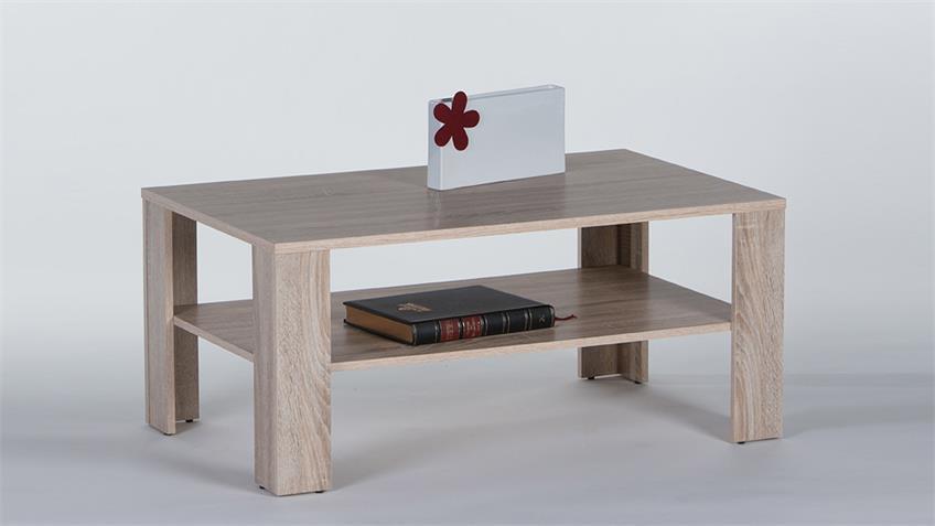 Couchtisch JOKER Tisch Sonoma Eiche mit Ablage B 100 cm