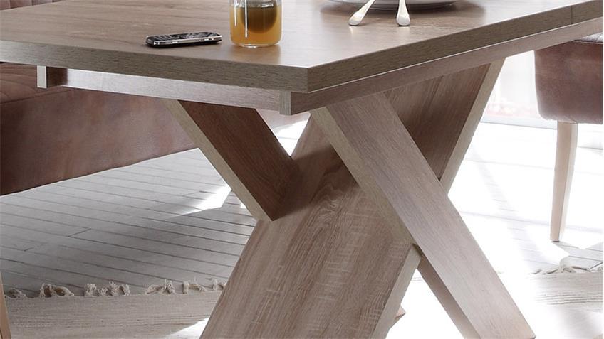 Esstisch X-BOW Eiche hell 120x80cm Esszimmer Tisch