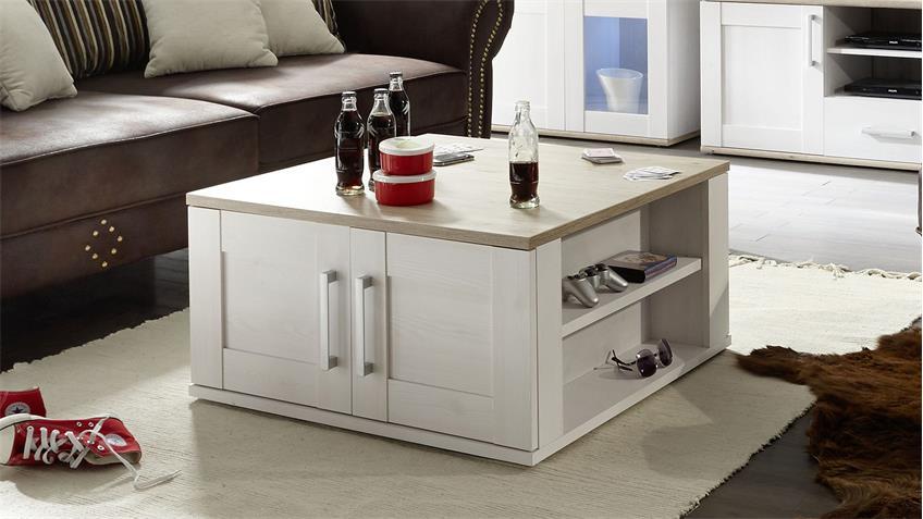 couchtisch romance sibiu l rche eiche san remo hell 80x80 cm. Black Bedroom Furniture Sets. Home Design Ideas
